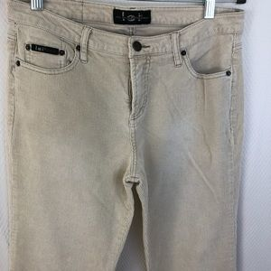 l.e.i cream corduroy bootcut jeans, size 13